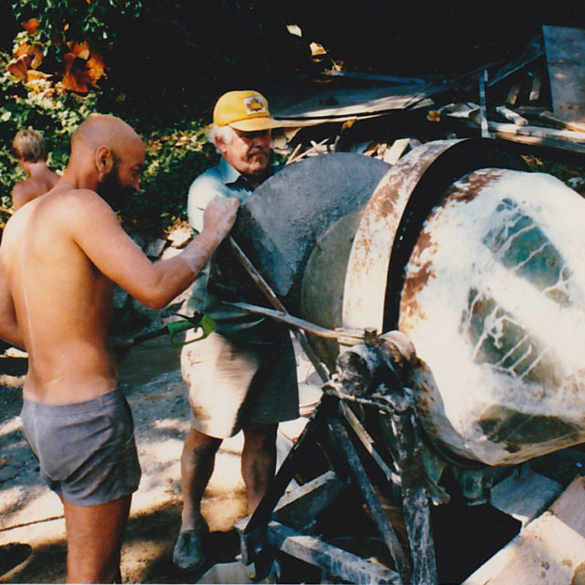 Dennis and his cement mixer