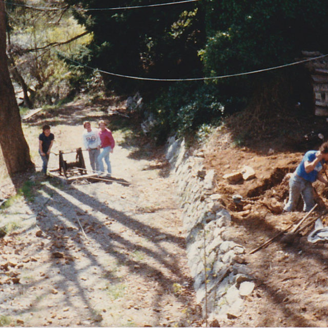 Original Union Steamhip rock wall and path