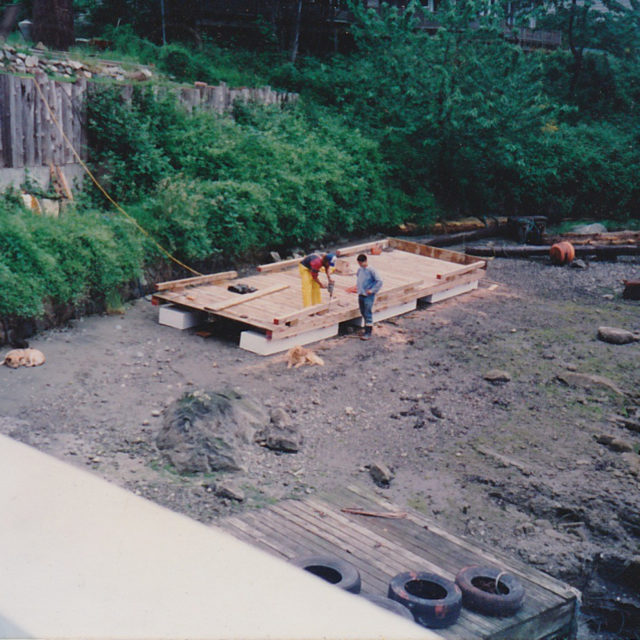 Building the first dock