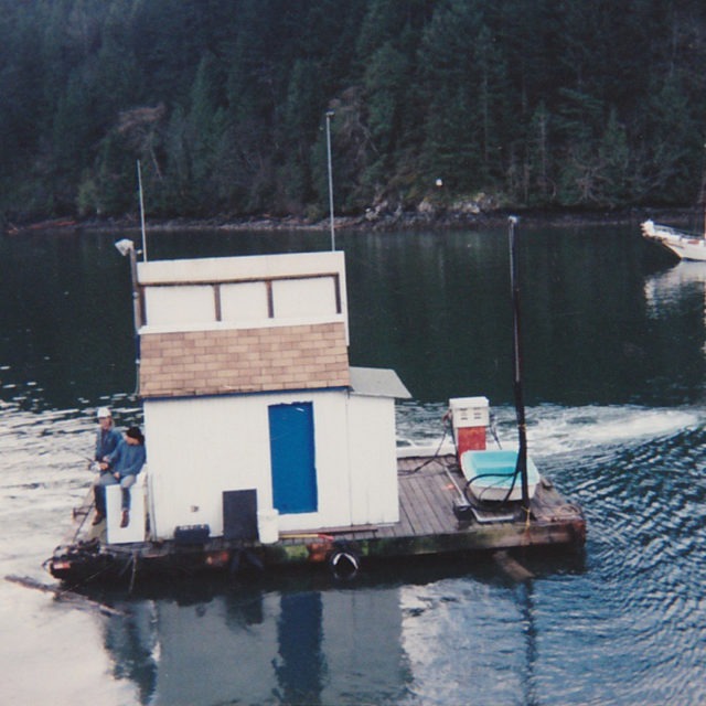Pump and Tackle shop being towed