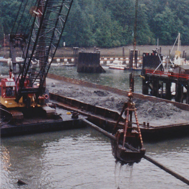 Dredging the middle of the marina area
