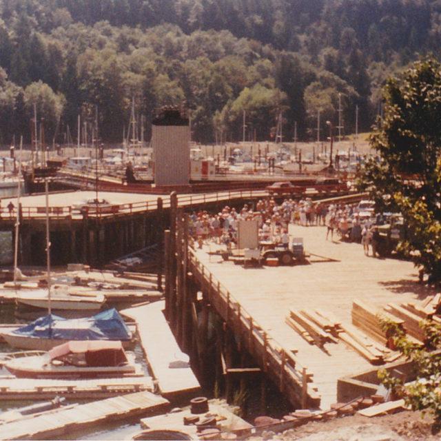 Docks built parking lot and pier complete